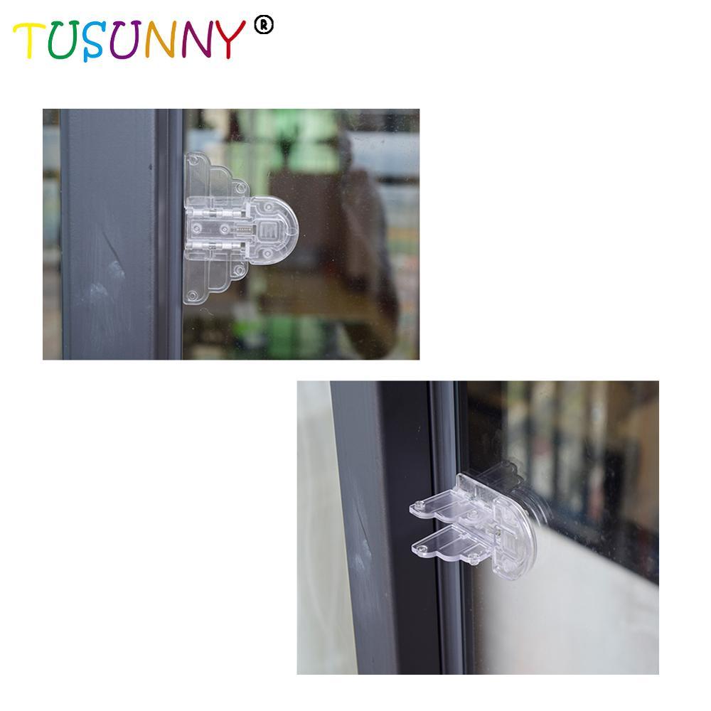 TUSUNNY 1pcs Baby Safety Lock For Sliding Door Window Baby Sliding Window Stop Lock Children Protection Lock Drawer Cabinet Door