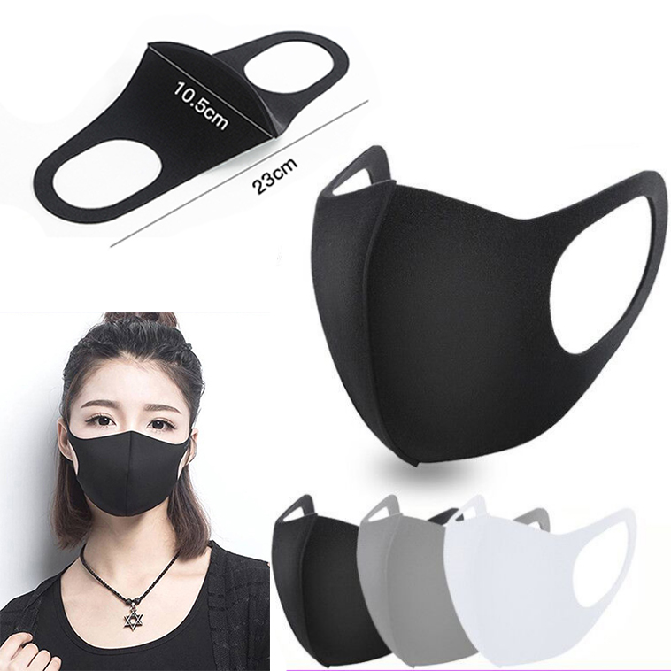 6pcs Fashion Mouth Mask Unisex PM2.5 Pollen Anti Dust Mask Anti Pollution Mask Ice Elastic Earloop Face Mouth Mask Reusable