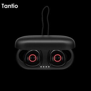 Image 5 - Настоящие беспроводные наушники T1, Bluetooth наушники Премиум звук со светодиодным индикатором/Smart Touch/микрофон/водонепроницаемый/ремешок