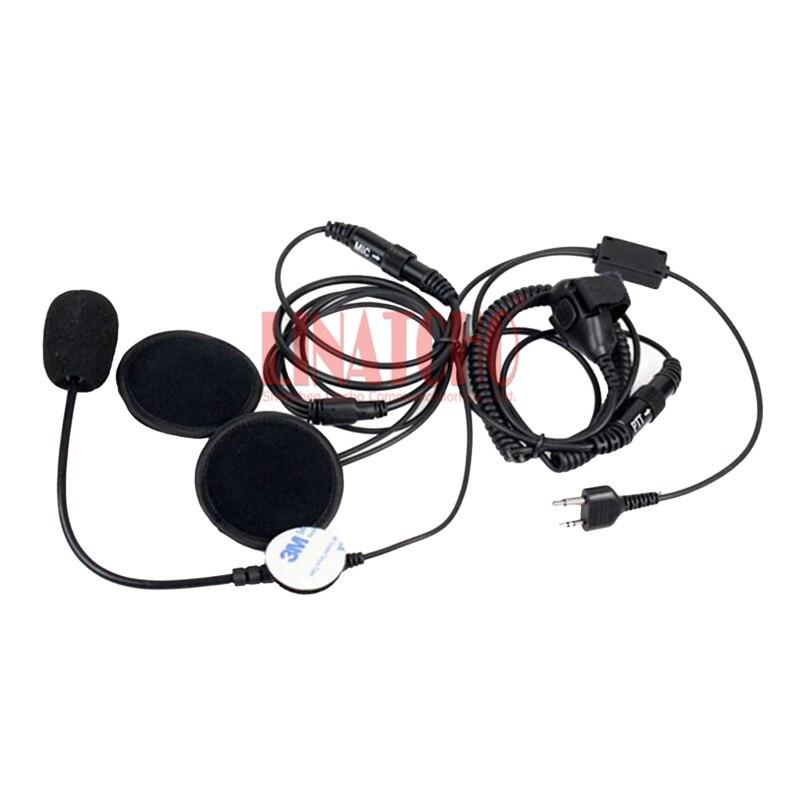 MIDLAND G6 G7 G8 G9 2 Pin Finger PTT Headset Walkie Talkie Motorcycle Helmet Microphone