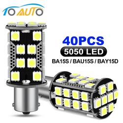 2pcs 1156 Led BA15S P21W BAU15S PY21W LED 1157 BAY15D PY21/5W LED Bulb 40SMD 5050 Chips Car Turn Signal DRL Auto Lamp 12V