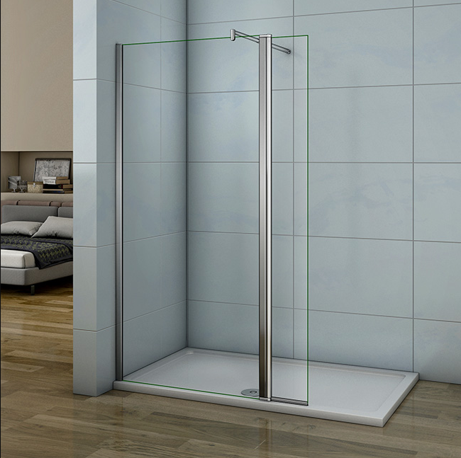 Shower Screens Fixed Panel + Side 30 Cm/40 Cm Movable 8mm Anti-Calc Sweep 70-120 Cm-130x200 Cm