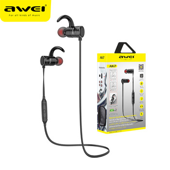 Awei AK7 Sport Earphone CVC 6.0 Cancelling Neckband Headphone Bluetooth 4.1 Magnetic Control