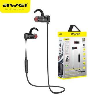 Awei AK7 Sport Earphone CVC 6.0 Cancelling Neckband Headphone Bluetooth 4.1 Magnetic Control