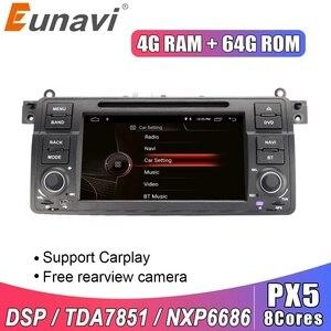 Image 1 - Eunavi 1 דין אנדרואיד 10.0 רכב נגן DVD עבור BMW E46 M3 רובר 3 סדרת 7 אינץ רדיו סטריאו gps ניווט ראש יחידת wifi dsp usb