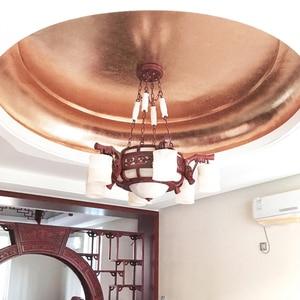 Image 5 - 400 livrets Imitation feuille dor feuilles 25 pièces/livret 14X14cm et 16x16cm feuille de cuivre rouge #0 pour Art artisanat papier décoration de la maison