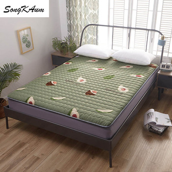 SongKAum Sanding printing Mattresses Keep warm Foldable Tatami Single student dormitory  Mattress Family Bedspreads King Size