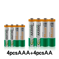 100% New AAA battery 1350 mAh aaa rechageable battery NI-MH 1.2 V AA battery 1.2V 3000mAh NI MH AA Rechargeable Batteries