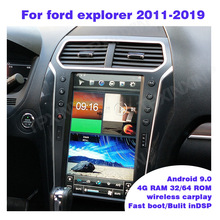 4 + 64GB 13,6 Android 9,0 Für Ford explorer 2011-2019 Vertikale Bildschirm Auto GPS Navigation Stereo Kopf einheit Multimedia Player Radio