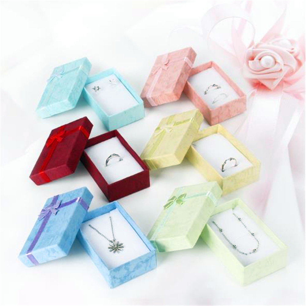 1 Pcs Romantic Jewellery Gift Box Pendant Case Display For Earring Necklace Ring Watch Beauty Jewelry Box New Arrival 2020