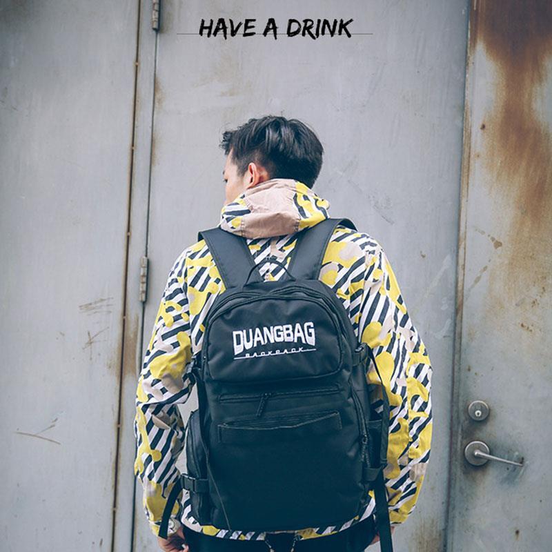 Sports Bag Backpack Roller HIP-HOP Black Oxford Cloth Hiking Skateboard Skateboard Bag Outdoors Handbag