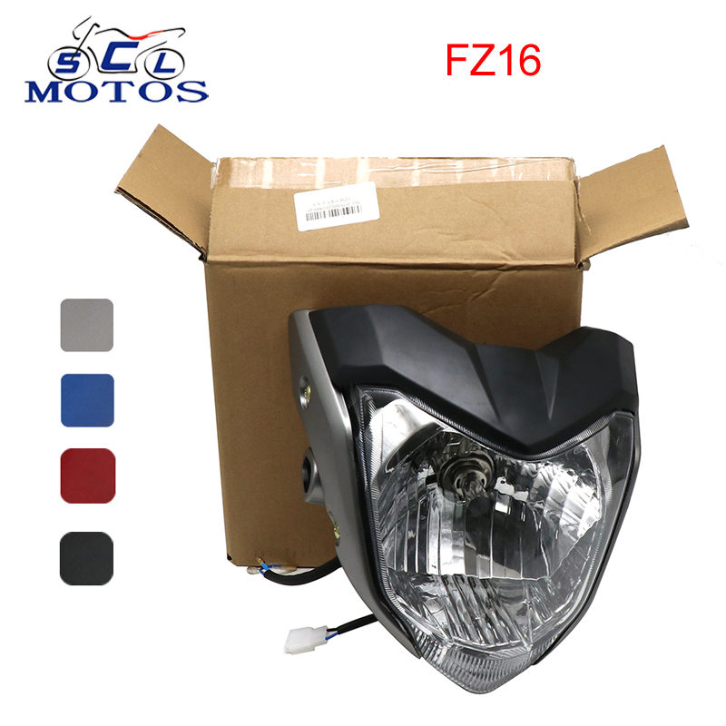Sclmotos- FZ16 FZ 16 Motorcycle Front Headlight Headlamp Assembly Head Light Lamp Bracket For Yamaha FZ16 FZER150 YS150 4 Color