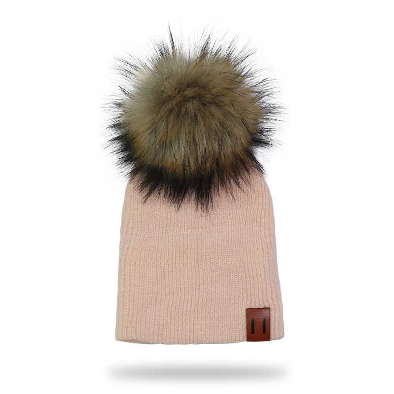 Gorro de invierno para niños sombrero de pompón tejido para niños gorros de ganchillo para niñas gorros para niños gorros de gorro para bebés