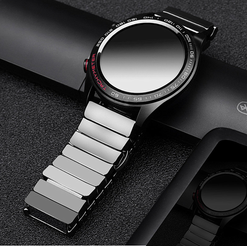 20mm 22mm Ceramic Watch Band For Samsung Galaxy 42mm 46mm Active 2 Bracelet Gear S3 Classic Frontier Strap For Huawei Watch GT 2