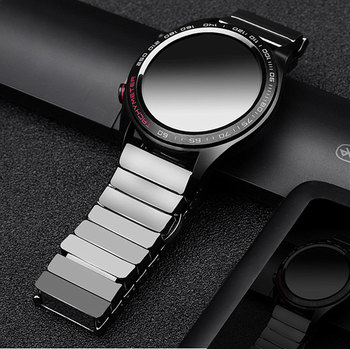20mm 22mm Ceramic Watch Band Strap For Samsung Galaxy 3 42mm 46mm Active 2 44mm 40mm Gear S3 Frontier For Huawei Watch GT 2 46mm 20mm 22mm ceramic watch band for samsung galaxy 42mm 46mm active 2 40mm 44mm bracelet gear s3 s2 sport huawei watch gt 2 strap