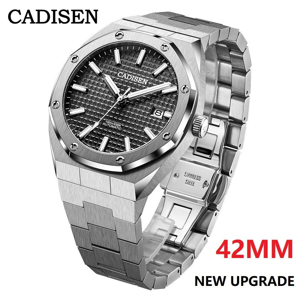 Мужские механические наручные часы CADISEN, 42 мм, новинка, AP ROYAL OAK, часы из нержавеющей стали, Топ бренд, 100 м, водонепроницаемые часы, reloj hombre