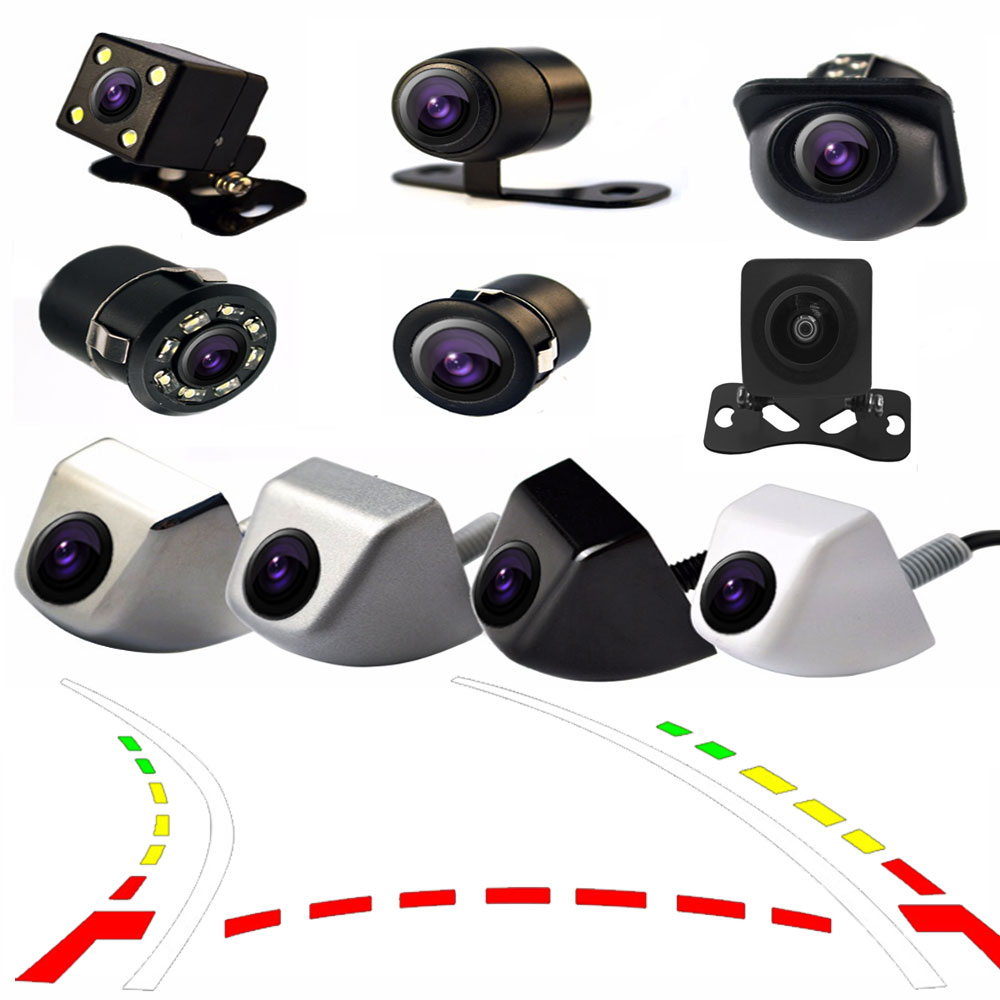 Car Rear View Camera Night Vision Reversing Auto Parking Monitor CCD Waterproof 170 Degree HD Video  Dynamic Trajectory Tracks