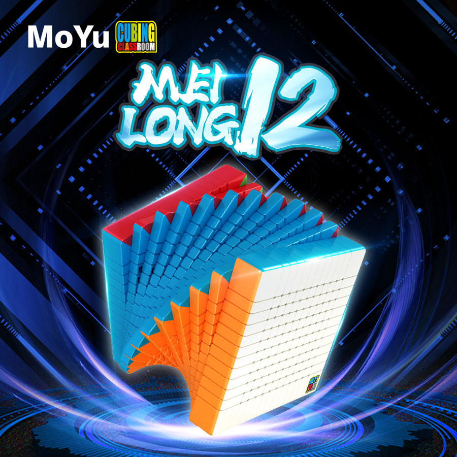 MOYU 12x12x12 10x10x10 9x9x9 11x11x11 Meilong Speed Cube Professional Magic Cubes Twist Puzzle Educational Toys For Children