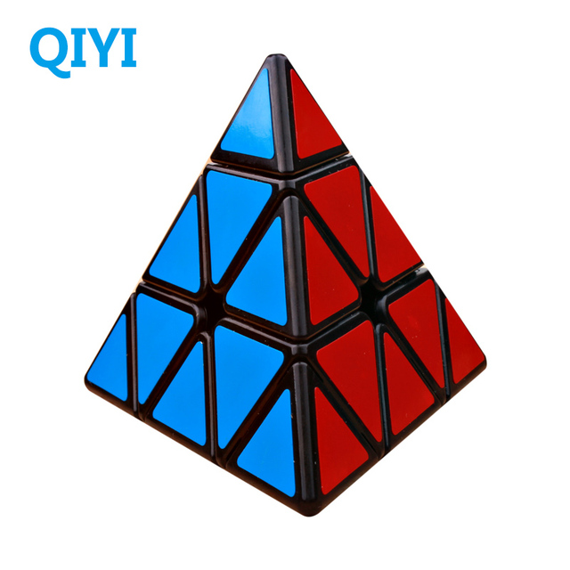 QiYi Qiming 3x3x3 Magic Pyramid Cube Speed Cubes Professional Stickerless 3×3 Puzzle Cube Education Toys For kids Gift