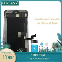 XSMax OEM LCD Display With Original Flex For iphone XS MAX LCD Screen Display Factory Part Glass Touch Panel Digitizer Assembly