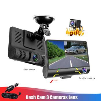 4 Mini Car Recorder Three Lens DVR Recorder with 16/32G Storage Space HD Night Vision Wide Angle Reversing Camera Auto Supplies image