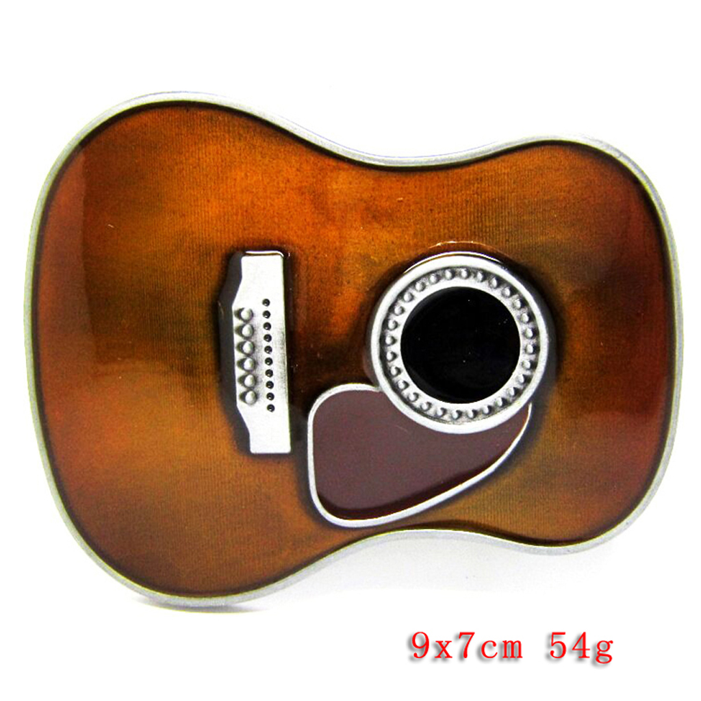 Alloy Novelty Belt Buckle Guitar Body Western Country Cowboy Music Hip Hop Rock Buckler Fit Belt Up To 1.5