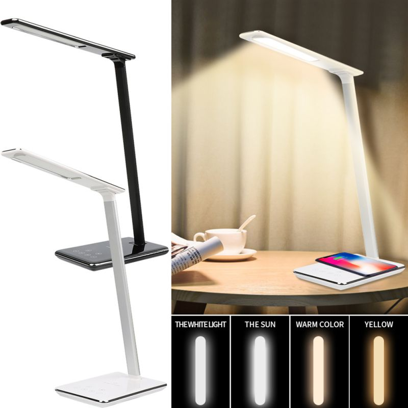 2 In 1 LED Desk Lamp Wireless Charging Pad Multi Function QI Smartphone Charger Station For Samsung Huawei Xiaomi Iphone