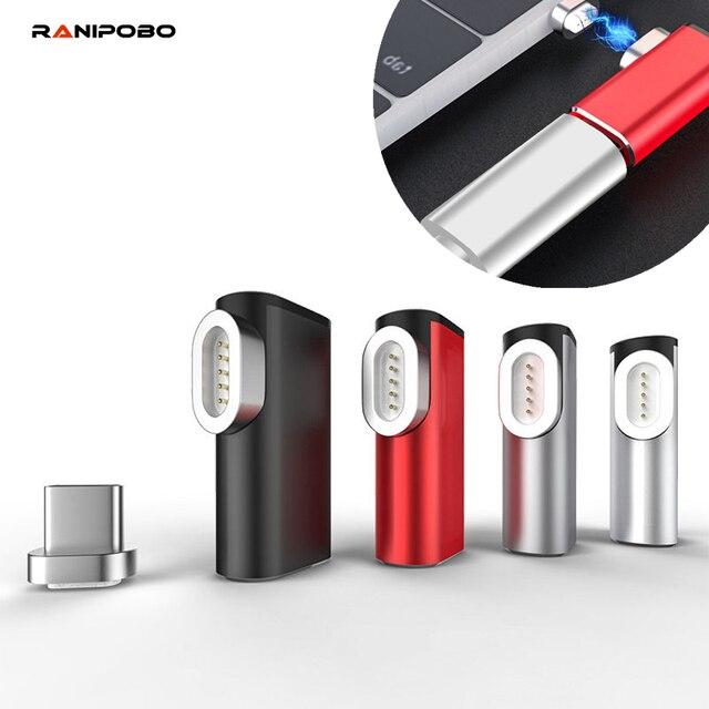 Ranipobo 87W מגנטי USB C מתאם עבור MacBook Pro 15 אינץ 6 סיכות מרפק USB סוג C תשלום מחבר עבור סמסונג USB מתאם