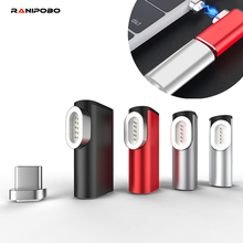 Ranipobo 87W manyetik USB C adaptörü için MacBook Pro 15 inç 6 Pins dirsek USB tip C şarj konektörü samsung için USB adaptörü