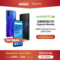 """IN LAGER UMIDIGI F2 Android 10 Globale Bands 6.53 """"FHD + 6GB 128GB 48MP AI Quad Kamera 32MP Selfie Helio P70 Smartphone 5150mAh NFC"""