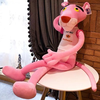 75cm Cute Soft Plush Doll Toy Stuffed Animal Naughty get dressed Pink Panther Child Plaything Kids Naughty Plush Gift фото