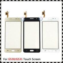 50 sztuk dla Samsung Galaxy wielki Prime Duos G530 G530H G530F G5308 G531 G531H G531F ekran dotykowy Digitizer czujnik szklany Panel