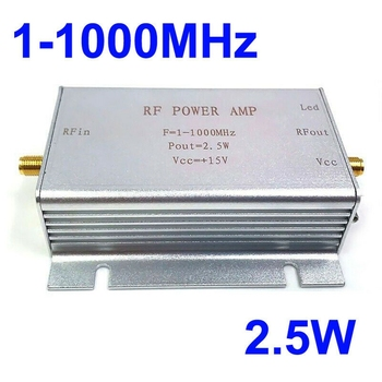 1-1000Mhz 2.5W Rf Power Amplifier For Hf Fm Transmitter Vhf Uhf Rf Ham Radio Broadband Power Amplifier wireless remote control ultra wideband rf amplifier hf amplifier linear amplifier 1mhz to 130mhz 6w 43db