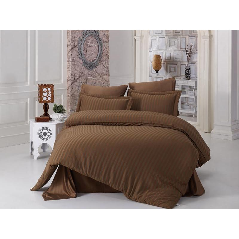 Bedding Set Double-euro KARNA, PERLA, Brown
