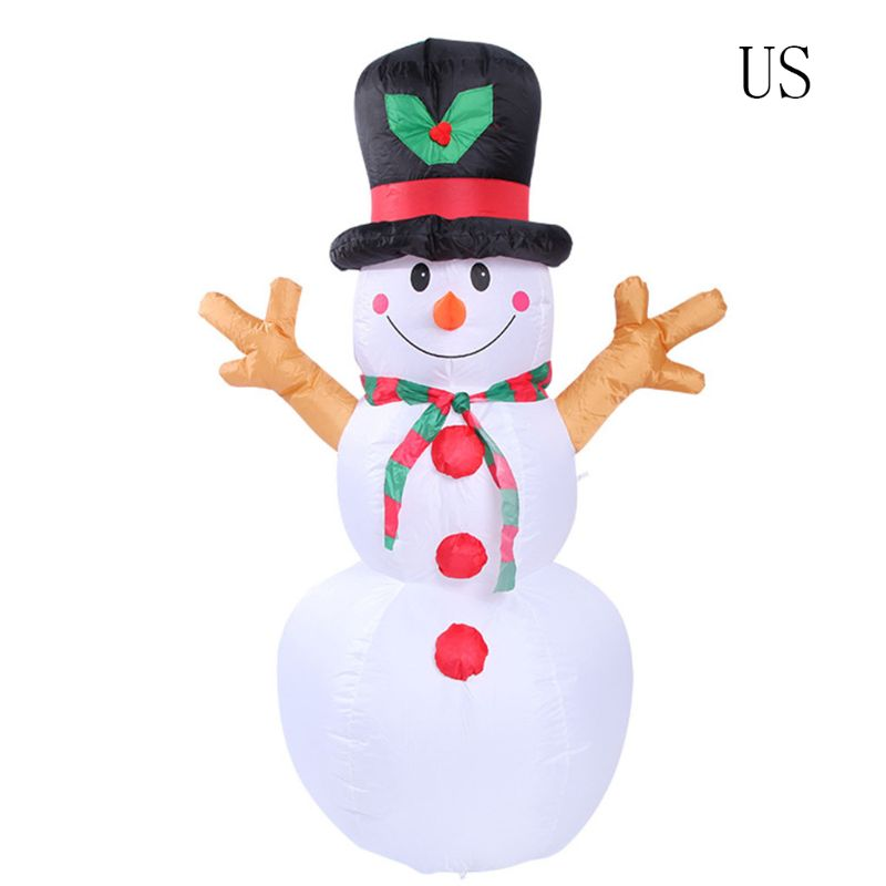 Inflatable Decorative Snowman Led Light Bead Model Christmas Snowman 5.24 Ft