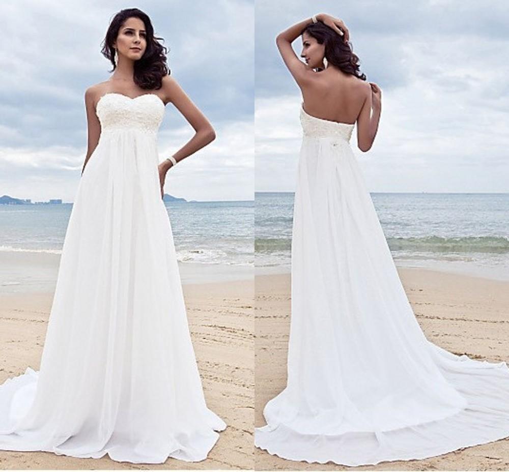 White 2018 Classic Western Country Empire Bridal Gown Vestido De Novia Baratos Bride Online Shop Custom Made Bridesmaid Dresses