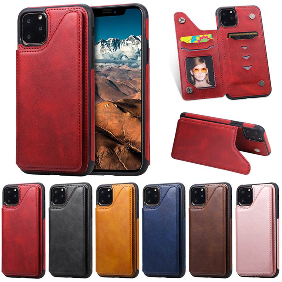 Luxury PU <font><b>Leather</b></font> <font><b>Flip</b></font> <font><b>Case</b></font> For <font><b>iPhone</b></font> 6 6s <font><b>7</b></font> 8 Plus X XS XR XS Max Card Slot Holder Wallet <font><b>Case</b></font> For <font><b>iPhone</b></font> 11 Pro Max Cover image