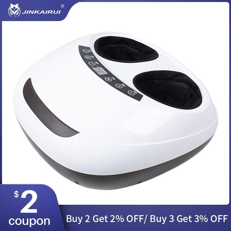 Jinkairui 220V électrique Antistress 3D Shiatsu pétrissage pression d'air masseur de pieds soins infrarouge avec chauffage et thérapie