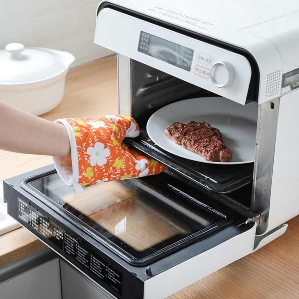 Baking Pelindung Microwave Oven Sarung Tangan Insulated Sarung Tangan Anti-Hot Pack Silikon Dapur Memasak