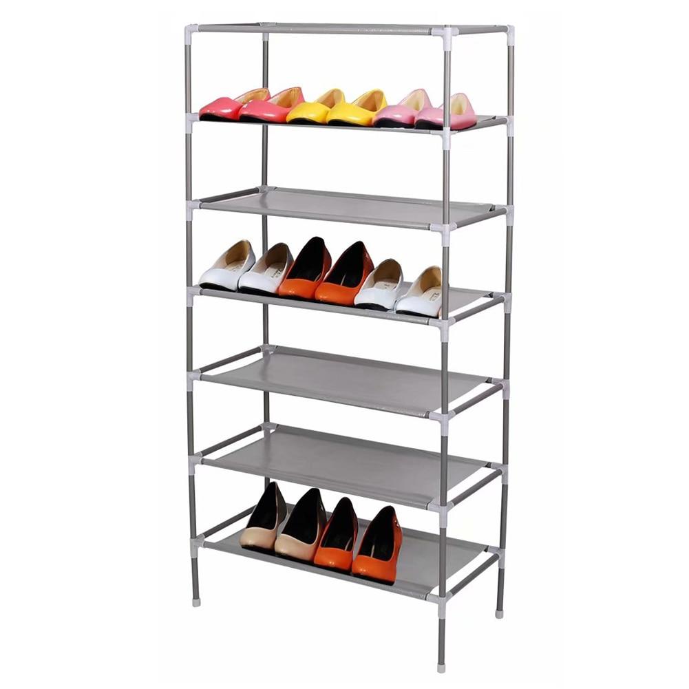 Assembling Dormitory Shoe Rack Household Simple Multi-Layer Storage Non-Woven Organizer E2S