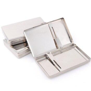 Caja de cigarrillos, caja de tabaco, gadgets para hombres, de acero inoxidable, ligero, soporte para puros, bolsillo de almacenamiento, accesorios para fumar, regalo para hombres