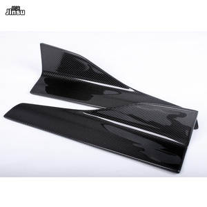 Image 3 - Carbon Fiber Side Skirts For Benz C class c250 W204 W205 C205 c63 AMG E class E350 coupe W212 W207 W213 W238 side spoiler wing