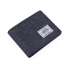 New Men Short Wallets Canvas Fabric Purse Bifold Male Casual Moneybags Transvers