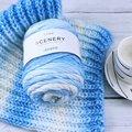 Jiwuo 100 для Wiko Rainbow lenny хлопчатобумажной пряжи сегмент окрашивания шерсти DIY ручной работы вязаный детский свитер с шапки и шарфа диванную поду...