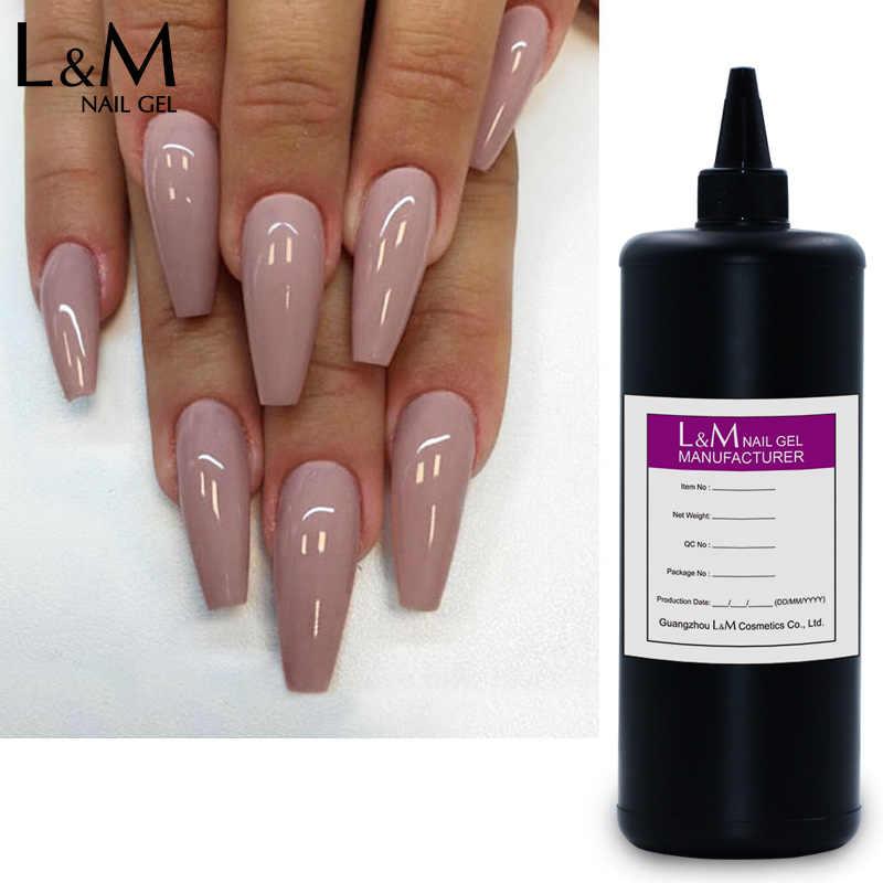 L & M toplu paket tırnak jeli renkli jel lehçe Whocolor bling gelpolish L & M kg tırnak salonu ıslatın kapalı uv jel cila