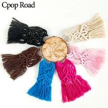 Cpop Trendy Boho Handmade Macrame Earrings Ethnic Long Elegant Tassel Fashion Jewelry Hot Bridesmaid Gifts Accessories