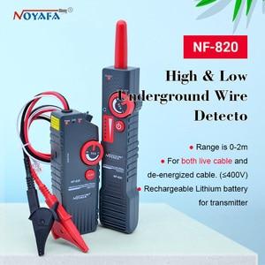 Image 1 - Новинка, яркий тестер BNC RJ45 RJ11, тестер для подземных кабелей высокого и низкого напряжения, прибор для поиска помех и проводов NF_820