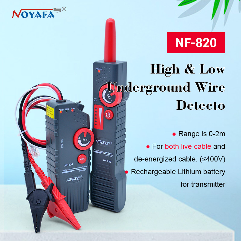 New NF-820 RJ45 RJ11 BNC Tester High  amp  Low Voltage Cable tester Underground Cable Finder Anti-Interference Wire Tracker NF 820