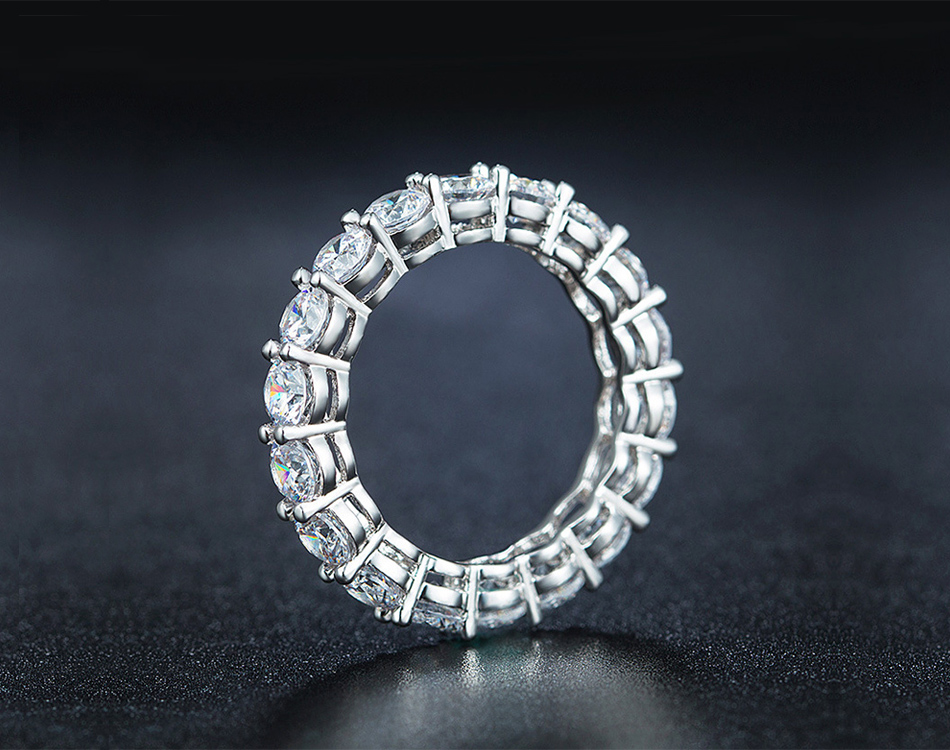 Hbcefa5a6332d433c88da10abf4e5f4fe2 Effie Queen Women's Sterling Silver Ring Female Couple Wedding Band Eternity Round Zircon 925 Silver Rings Jewelry DSR167