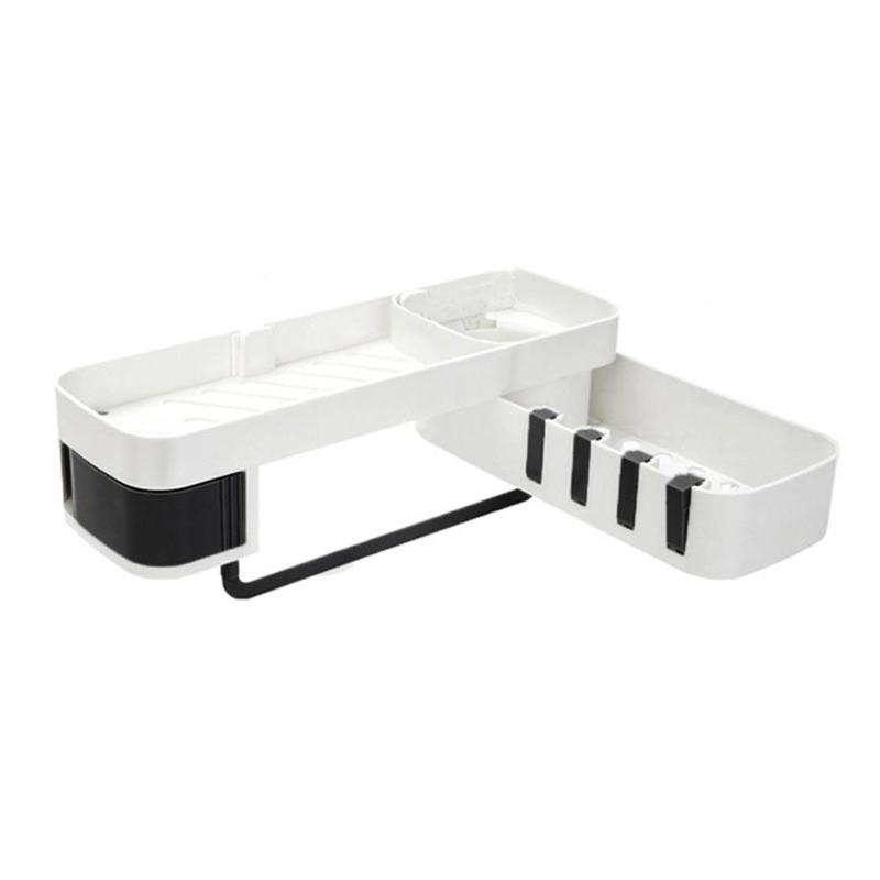 Bathroom Storage Shelf Innovative Drainage Layer Tripod Seamless Installation 180 Large Angle Adjustment Kitchen Tripod Wall